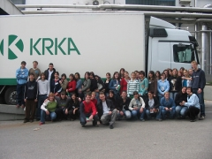 Vocational visit to the Krka factory in Novo mesto.